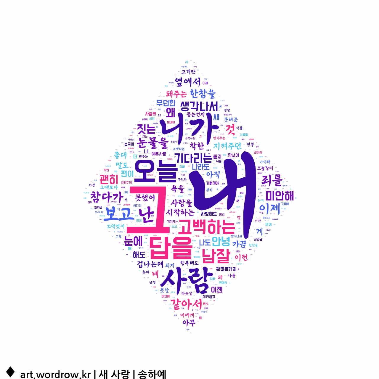 워드 클라우드: 새 사랑 [송하예]-37